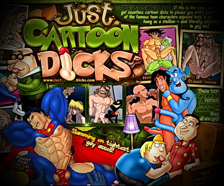 Just Cartoon Dicks - welcome to new gay toon site!