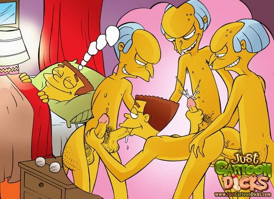 Just Cartoon Dicks simpsons -gay sex dreams