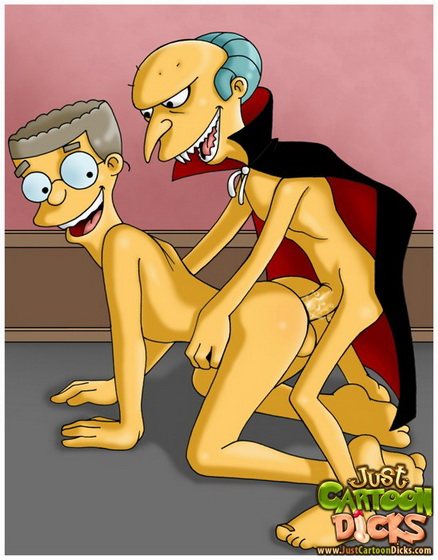 Just Cartoon Dicks Mr. Burns - sexy gay vampire