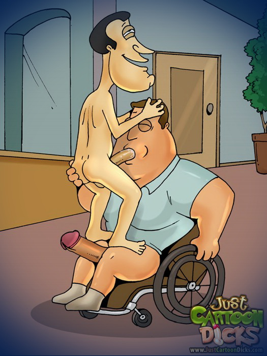 Family Guy gay cartoon 2 truckers cruiser: TRUCKER AT TRUCK STOP MOTEL COULDN'T WAIT TO TAKE HIM