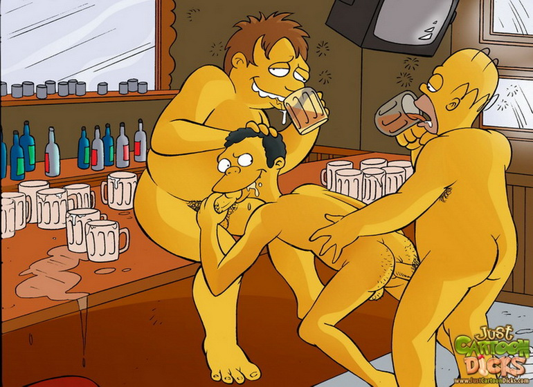 Simpsons gay gangbang