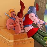 Ripped gay cartoon giants having sexy time | Just Cartoon Dicks
